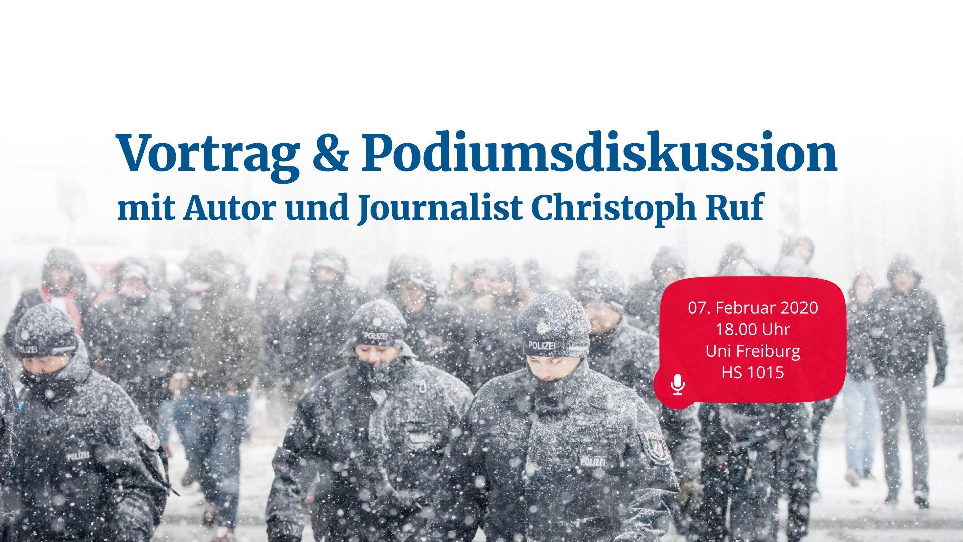 Vortrag & Podiumsdiskussion – Spannungsverhältnis Polizei und Fußballfans