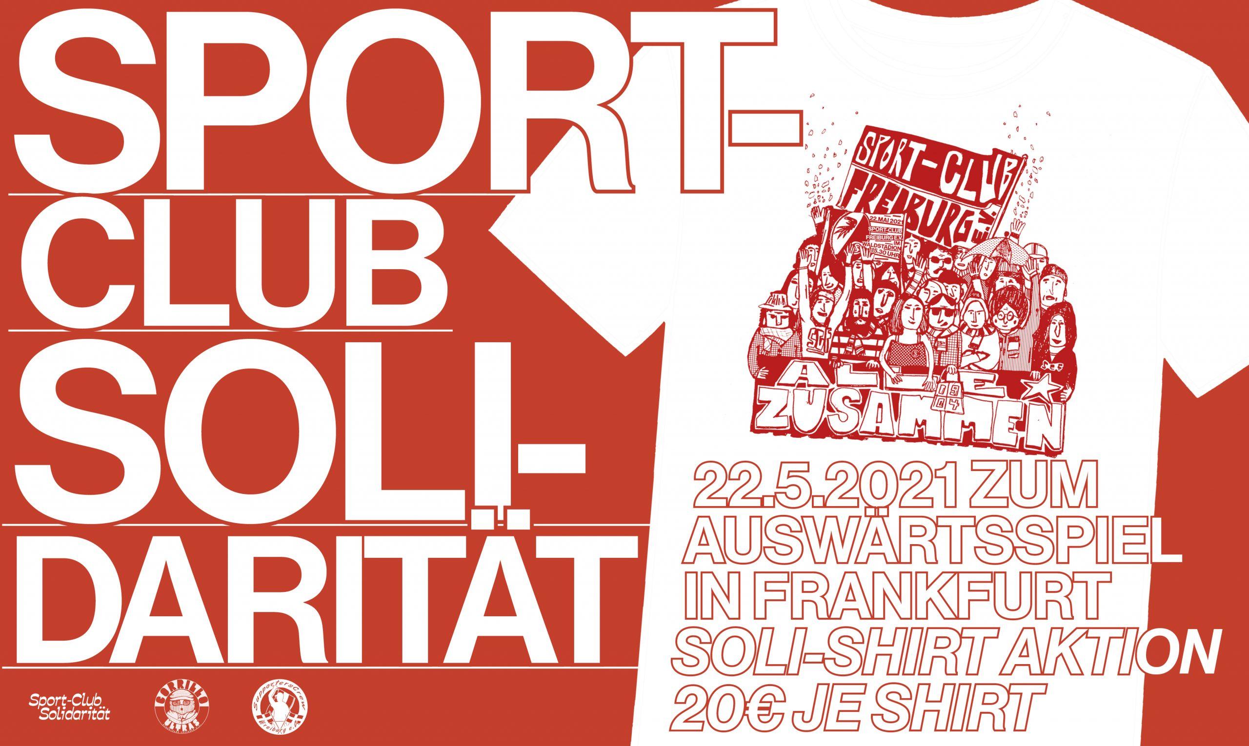 Soli-Shirt zum letzten Spiel in Frankfurt